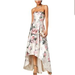 Adrianna Papell floral hi-low dress